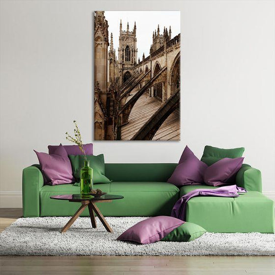 Bath Abbey In England Canvas Wall Art Living Room