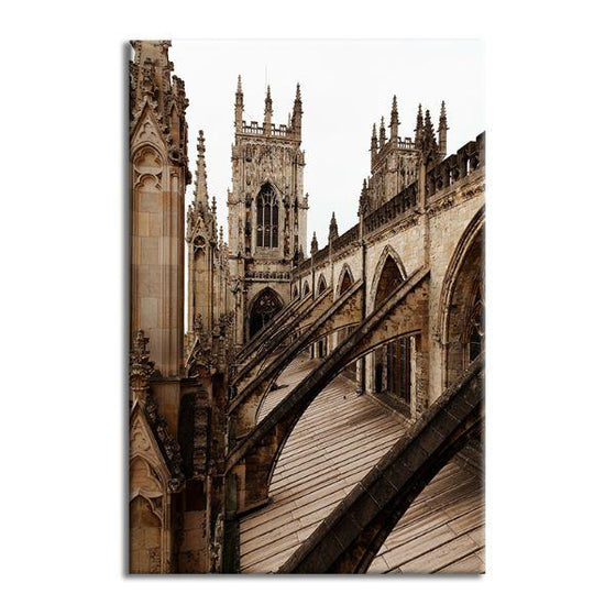 Bath Abbey In England Canvas Wall Art