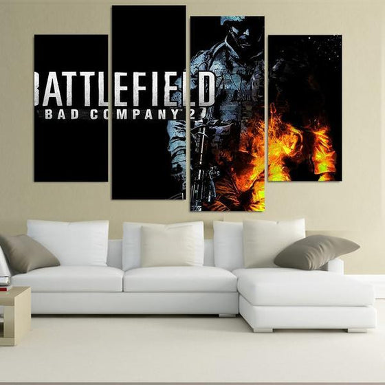 Battlefield Video Game Canvas Art