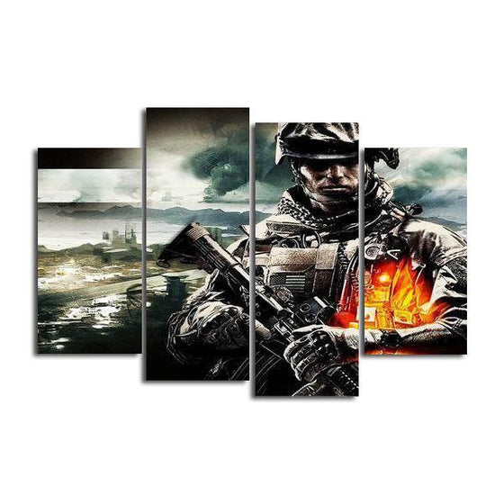Battlefield 5 Assault Class Canvas Wall Art