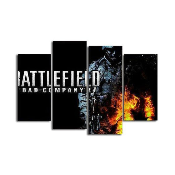 Battlefield Bad Company 2 Canvas Wall Art
