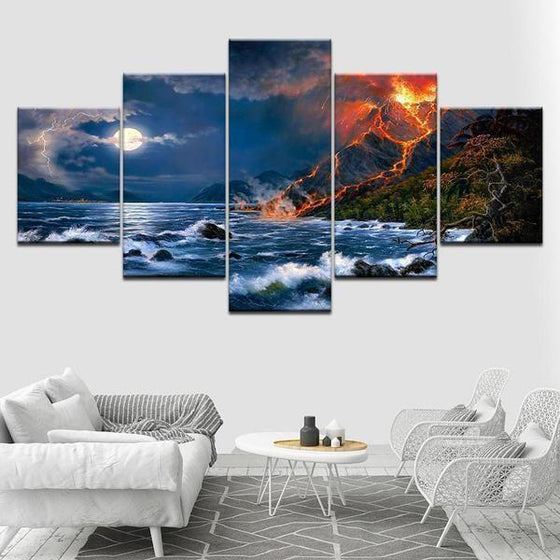 Beach Scene Wall Art Canvas