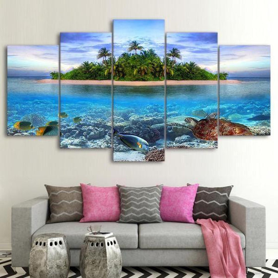 Lone Island Canvas Wall Art Decor