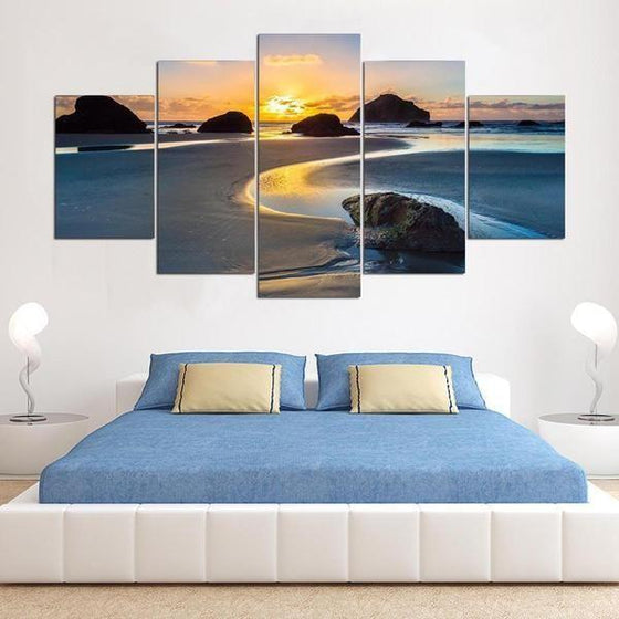 Beach Wall Art Sunset Canvases