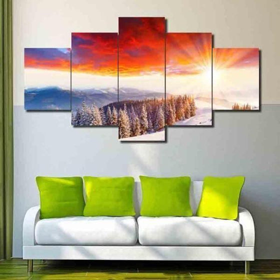 Beach Wall Art Sunset