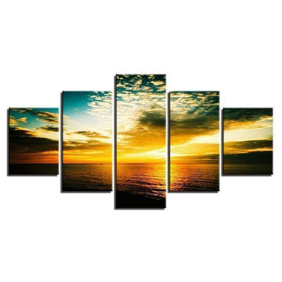 Beautiful Beach Sunset Canvas Wall Art Decor