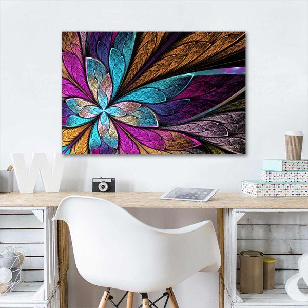Beautiful Fractal Flower Canvas Wall Art Decor