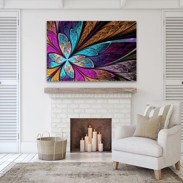 Beautiful Fractal Flower Canvas Wall Art Print