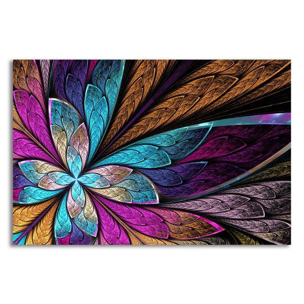 Beautiful Fractal Flower Canvas Wall Art