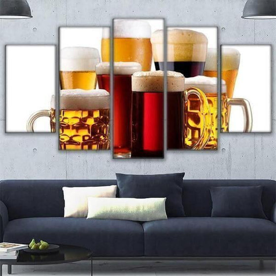 Assorted Craft Beer Canvas Wall Art Office Decor
