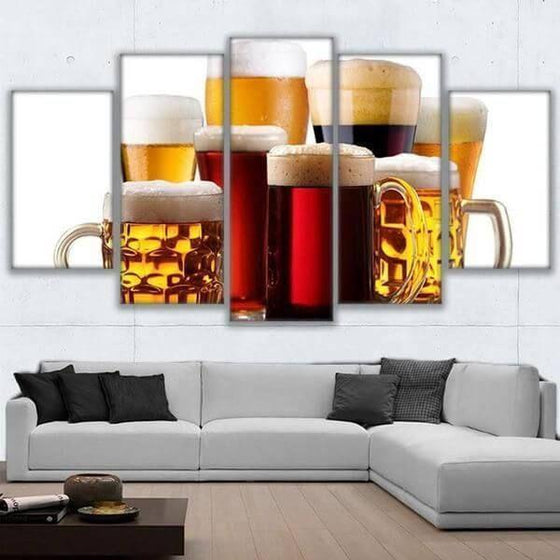 Assorted Craft Beer Canvas Wall Art Office