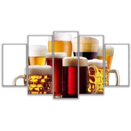 Assorted Craft Beer Canvas Wall Art
