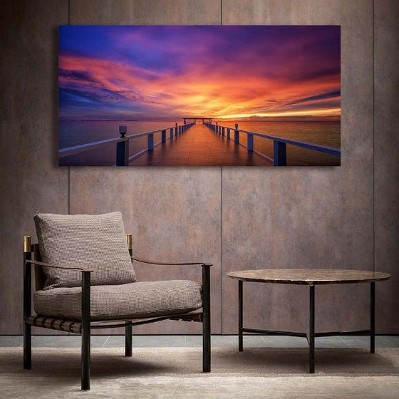 Best Bridge Sunset View Wall Art Decor