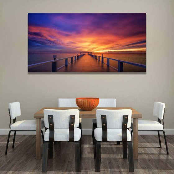 Best Bridge Sunset View Wall Art Dining Room
