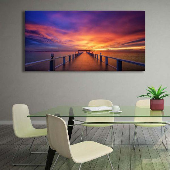Best Bridge Sunset View Wall Art Print