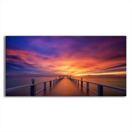 Best Bridge Sunset View Wall Art
