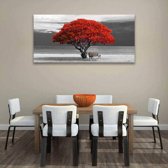Big Old Red Tree Canvas Art