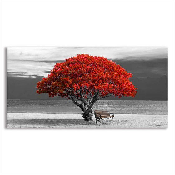Big Old Red Tree Canvas Wall Art