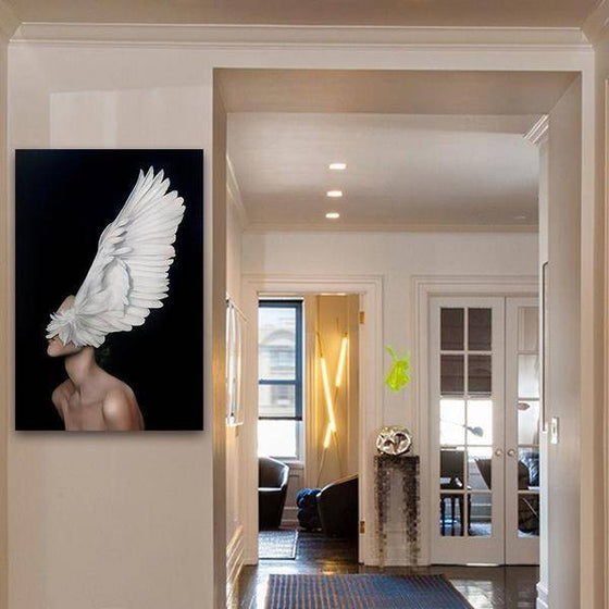 Big White Feathers Wall Art Decor