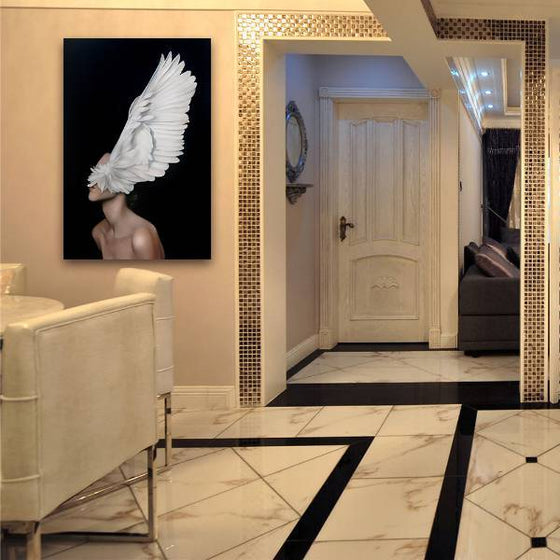 Big White Feathers Wall Art Ideas