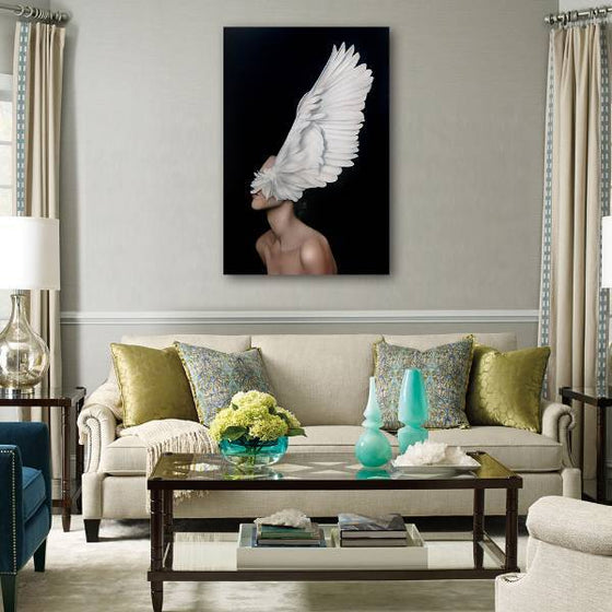 Big White Feathers Wall Art Print