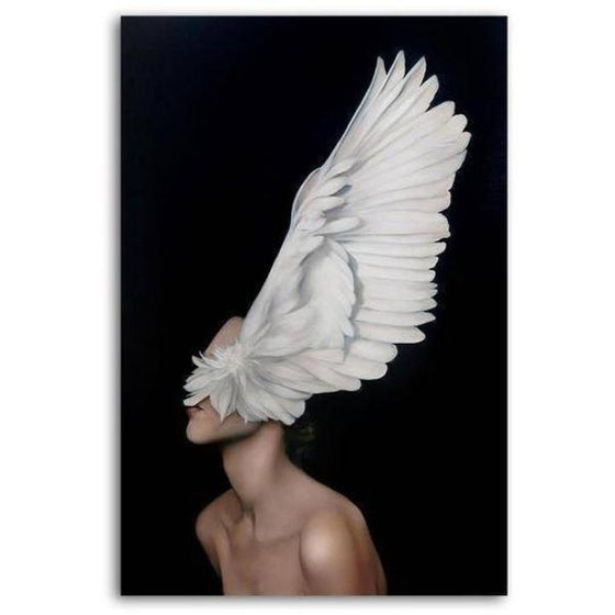 Big White Feathers Wall Art