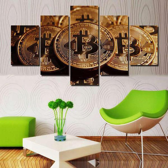 Bitcoins Canvas Wall Art Decor