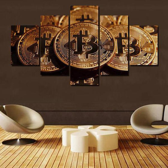 Bitcoins Canvas Wall Art Prints