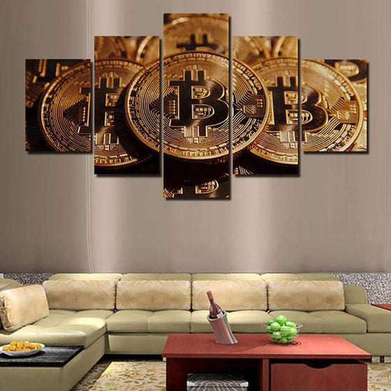 Bitcoins Canvas Wall Art Ideas