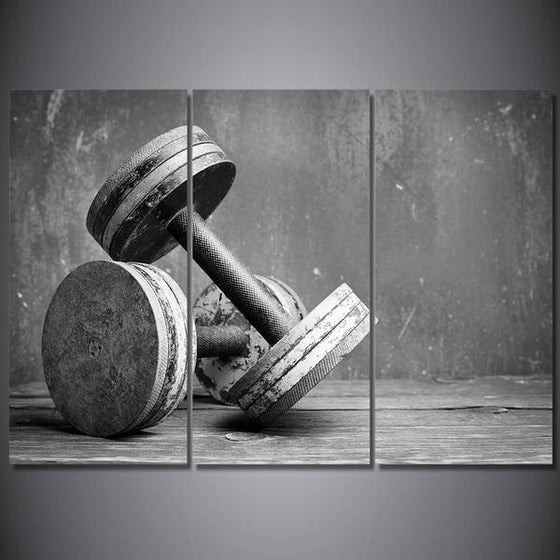 Fitness Equipment Dumbells Canvas Wall Art Prints