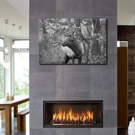 Black And White Elk Canvas Wall Art Ideas