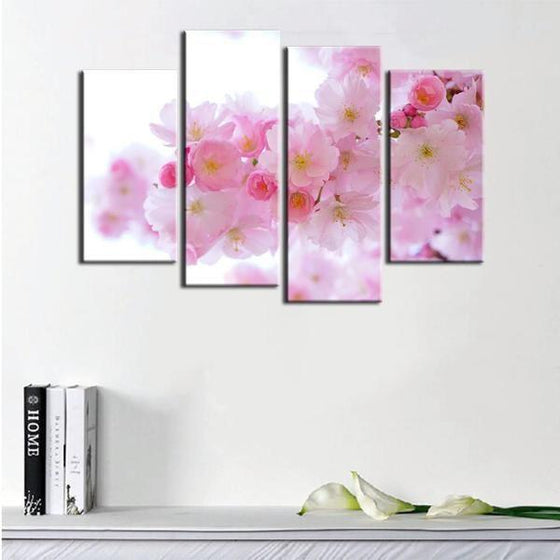 Black And White Flowers Wall Art Canvases