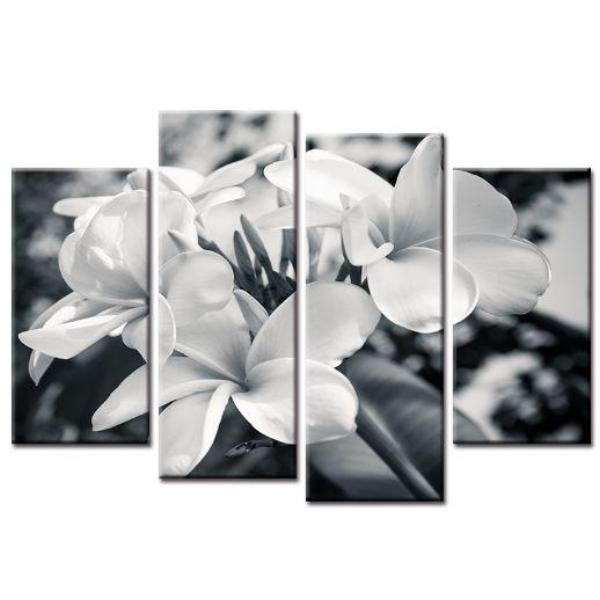 Black And White Flowers Canvas Wall Art | Floral-Inspired Art Print ...