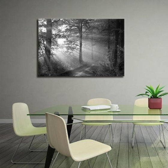 Black And White Forest Wall Art Canvas