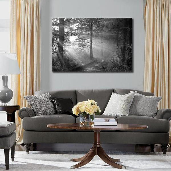 Black And White Forest Wall Art Decor