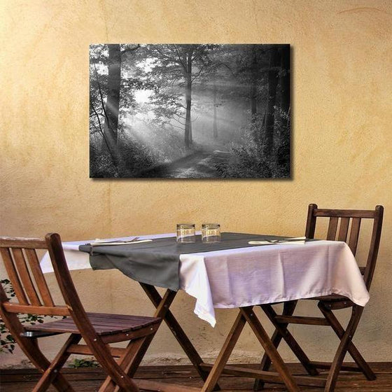 Black And White Forest Wall Art Dining Room