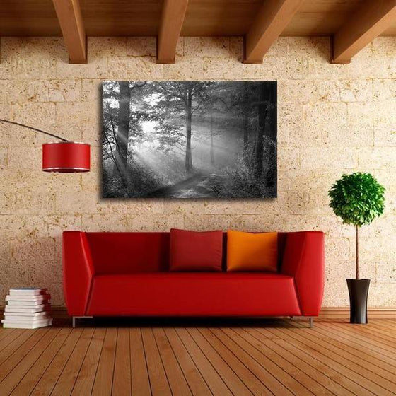 Black And White Forest Wall Art Ideas