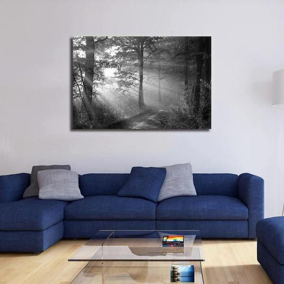 Black And White Forest Wall Art Living Room