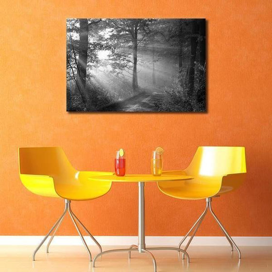 Black And White Forest Wall Art Print