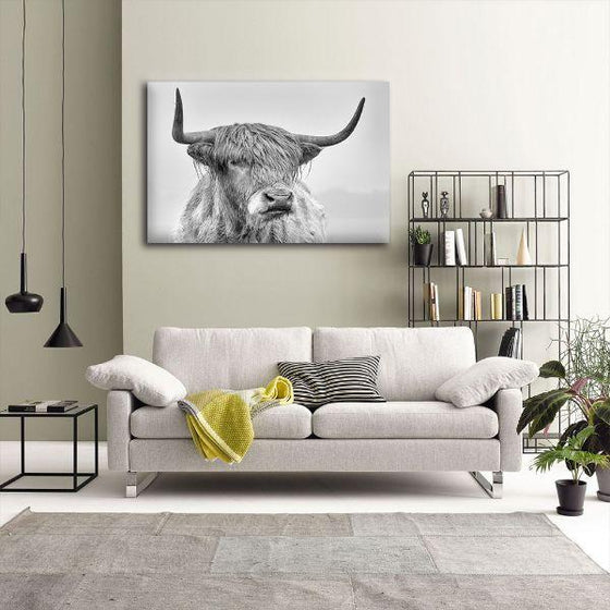 Black And White Highland Cow Canvas Wall Art Ideas