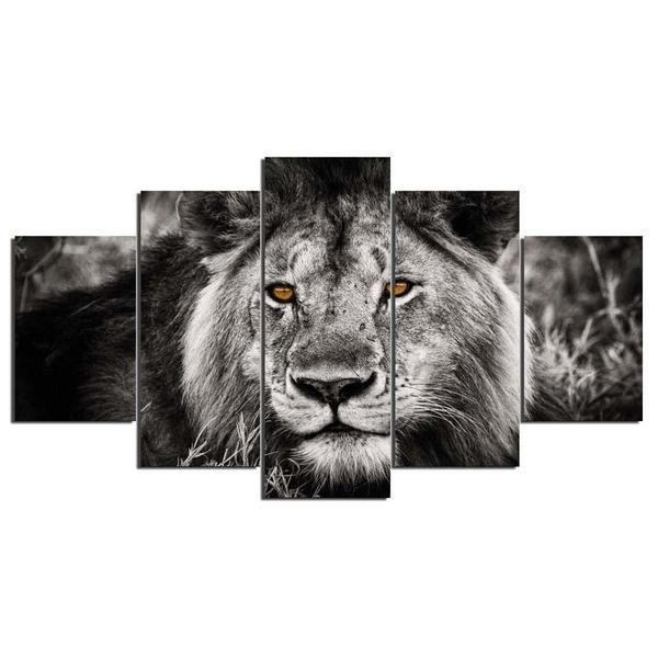 Black And White Lion Wall Art Prints