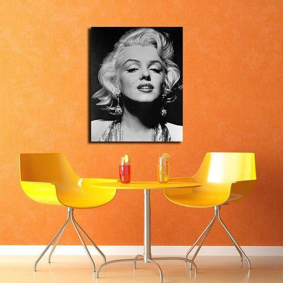 Black And White Marilyn Monroe Portrait Wall Art Decor