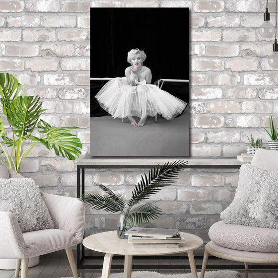 Black And White Marilyn Monroe Wall Art Canvas