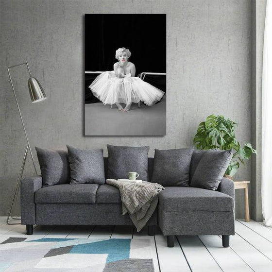 Black And White Marilyn Monroe Wall Art Decor