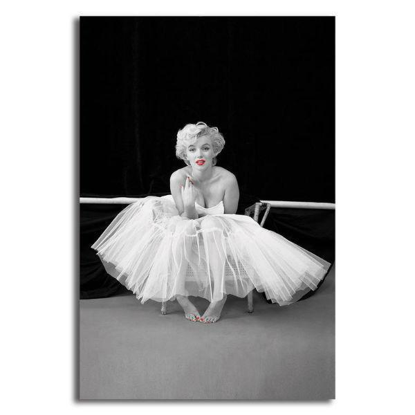 Black And White Marilyn Monroe Canvas Wall Art Celebrity Prints