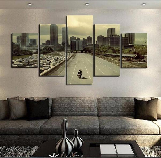 Black And White Wall Art Cityscape Print