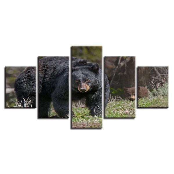 Animal Black Dog Bear Scenery Canvas Wall Art — canvasx.net