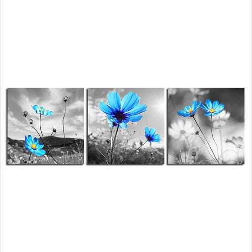 Calming Blue Flowers Canvas Wall Art