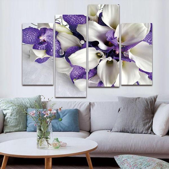 Blue Flowers Wall Art Decor