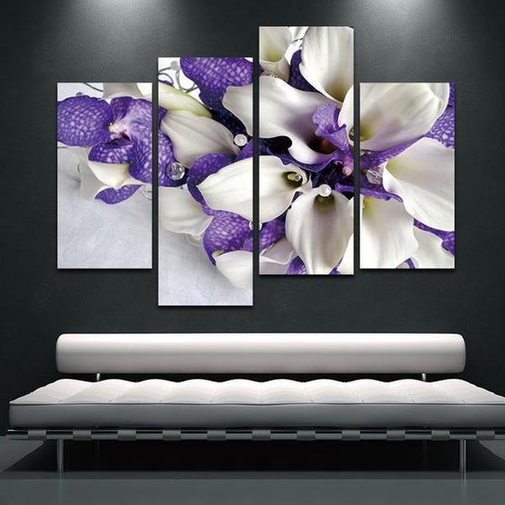 Blue Flowers Wall Art Decors
